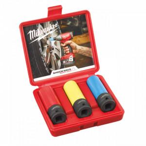 Set Milwaukee 3 tubulare sector auto (17/19/21mm), pachet 3 buc