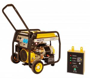 Stager FD 6500E+ATS generator open-frame 5kW, monofazat, benzina, automatizare