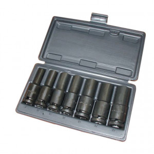 """Trusa capete tubulare de impact lungi 1/2"""" 8-19 mm/7 piese 8-19 mm/7 piese"""