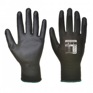 A129BKR Manusi PU Palm NEGRE (pachet de 12 perechi)