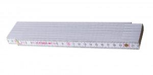 Block 73 W Metru lemn fag 3 m imbinari din plastic si nituri vizibile otel, culoare alb 3 m