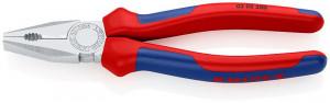 Cleste combinat cromat, patent, manere multicomponent, KNIPEX, 200 mm