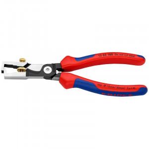 Cleste pentru dezizolat cu foarfece de taiat cabluri, KNIPEX, 180 mm