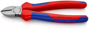 Clește sfic pentru tăiat KNIPEX, mânere multicomponent, 180 mm