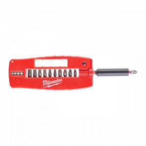 Dezizolator cabluri electrice de Ø 0,75 / 1,0 / 1,5 / 2,5 mm² si casetă ghidare biți SHOCKWAVE™ IMPACT DUTY Milwaukee, 12 piese