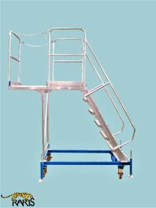 Platforma la 60 0 , mobila, baza otel, structura aluminiu, in consola, tip PBC