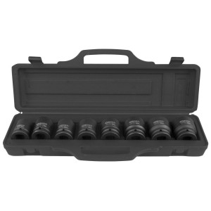 "Set chei tubulare impact KS TOOLS hexagonale, 3/4"", 24-38mm, 8 piese"