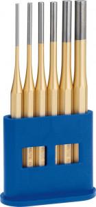 Set standard de dornuri cilindrice Rennsteig în stand de plastic, 6 piese