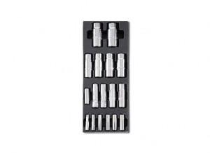 Set tubulare lungi 1/4 (6-12mm) si 1/2 (13-27mm) in suport termoformatat T103