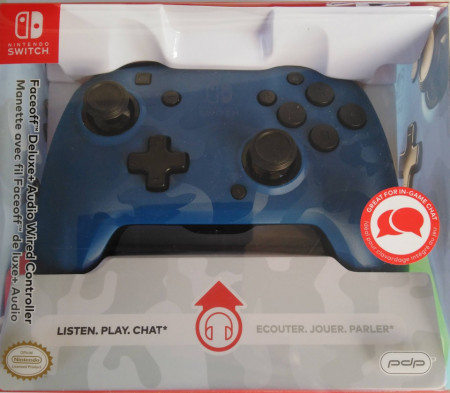 Slika Nintendo Switch faceoff deluxe controller audio camo blue