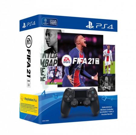 Slika PS4 Sony Dualshock 4 V2 Kontroler crni + FIFA 21