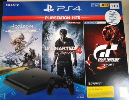 Slika Sony Playstation PS4 1 TB + 3 igre bundle