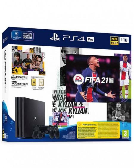 Slika Sony Playstation PS4 PRO 1TB + DualShock PS 4 + Fifa 21Akcija