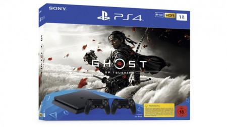 Slika Sony PS4 1TB + Dodatni Dualshock + Ghost of Tsushima