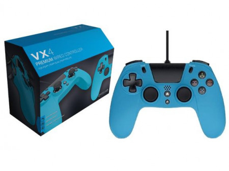 Slika PS4 Wired Controller VX4 Blue Gioteck