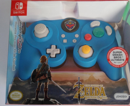 Slika Nintendo Switch Wired Smash Pad Pro Zelda Breath of the Wild