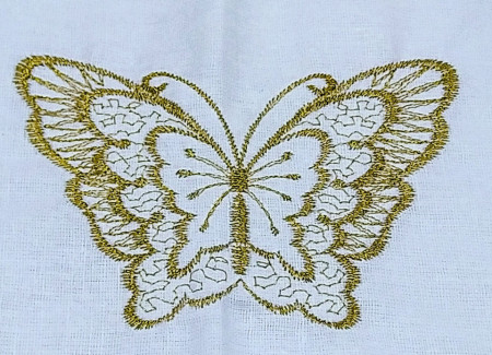 Trusou botez fluture brodat, auriu
