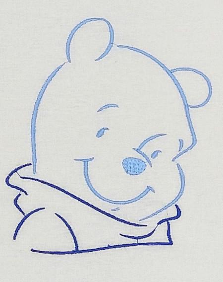 Trusou botez DanyKids cu Winnie brodat, model 1 in cutie