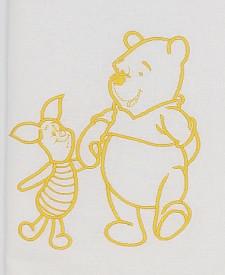 Trusou botez DanyKids cu Winnie brodat, model 2 in cutie