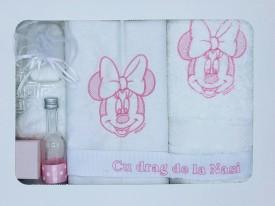 Trusou botez Minnie, culoare roz