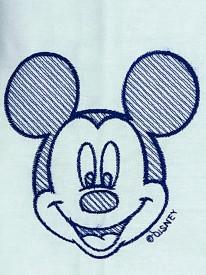 Set trusou si lumanare botez Dany Kids, Mickey brodat bleumarin