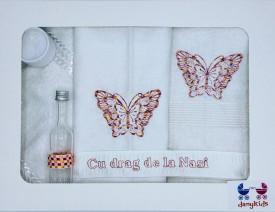 Trusou botez fluture brodat, multicolor
