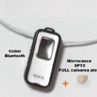 Colier bluetooth si microcasca japoneza MC300