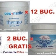PROMO7 - Crema THERMO Anticelulitica Cosmedic (12 buc.) si Crema COLAGEN ( 2 buc. GRATIS)