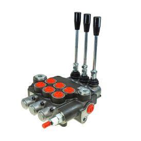 "Distribuitor hidraulic 3/8"" 3 manete 2 cu flotant si dublu efect si 1 dublu efect 40 litri"