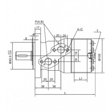 Hidromotor/ Motor hidraulic OMP 160 Danfoss