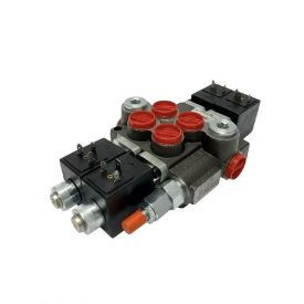 Distribuitor electric doua sectiuni 12 Vdc 50 litri
