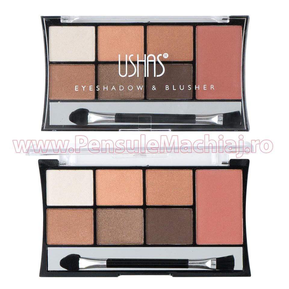 Fard de pleoape 7 culori cu blush Carmel & Cocoa #01