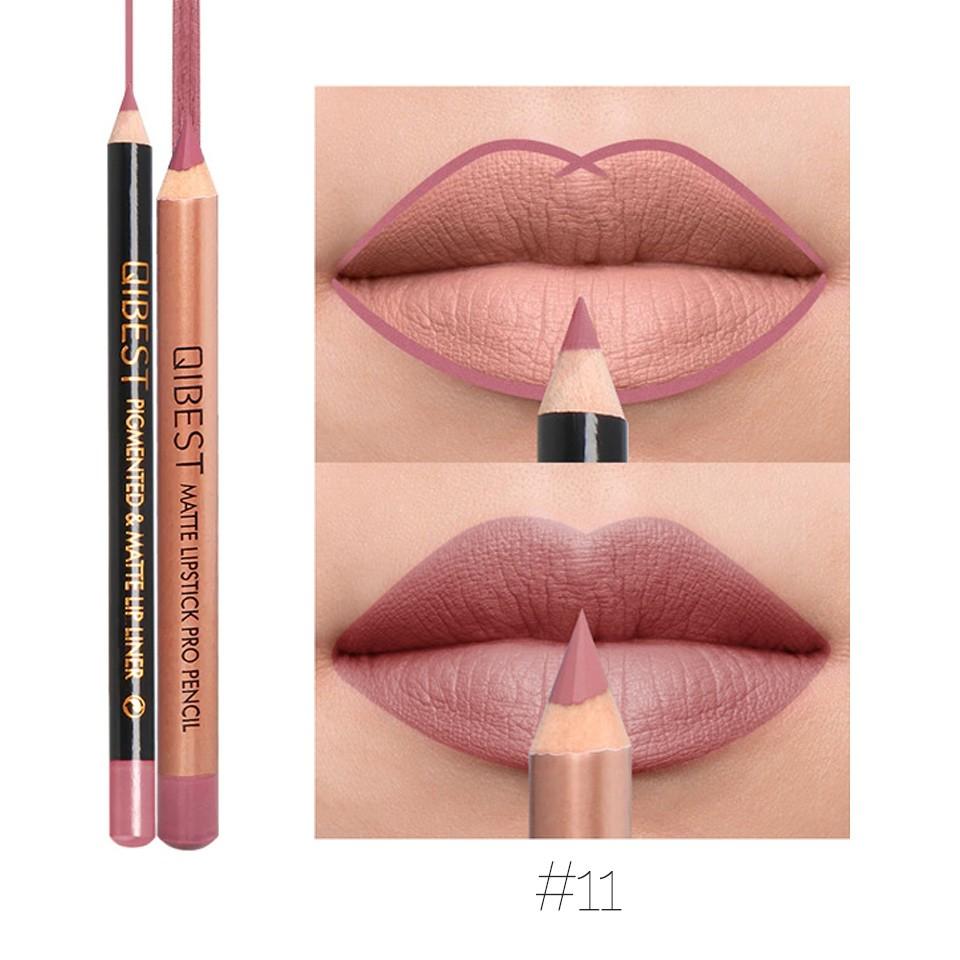 Set contur buze si ruj creion Qibest Candy #11