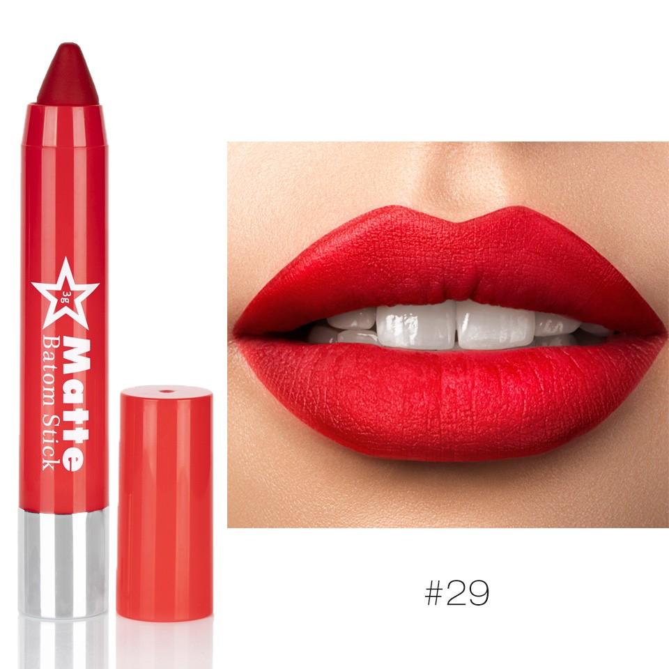 Ruj Mat tip creion Miss Rose Naughty Red #29