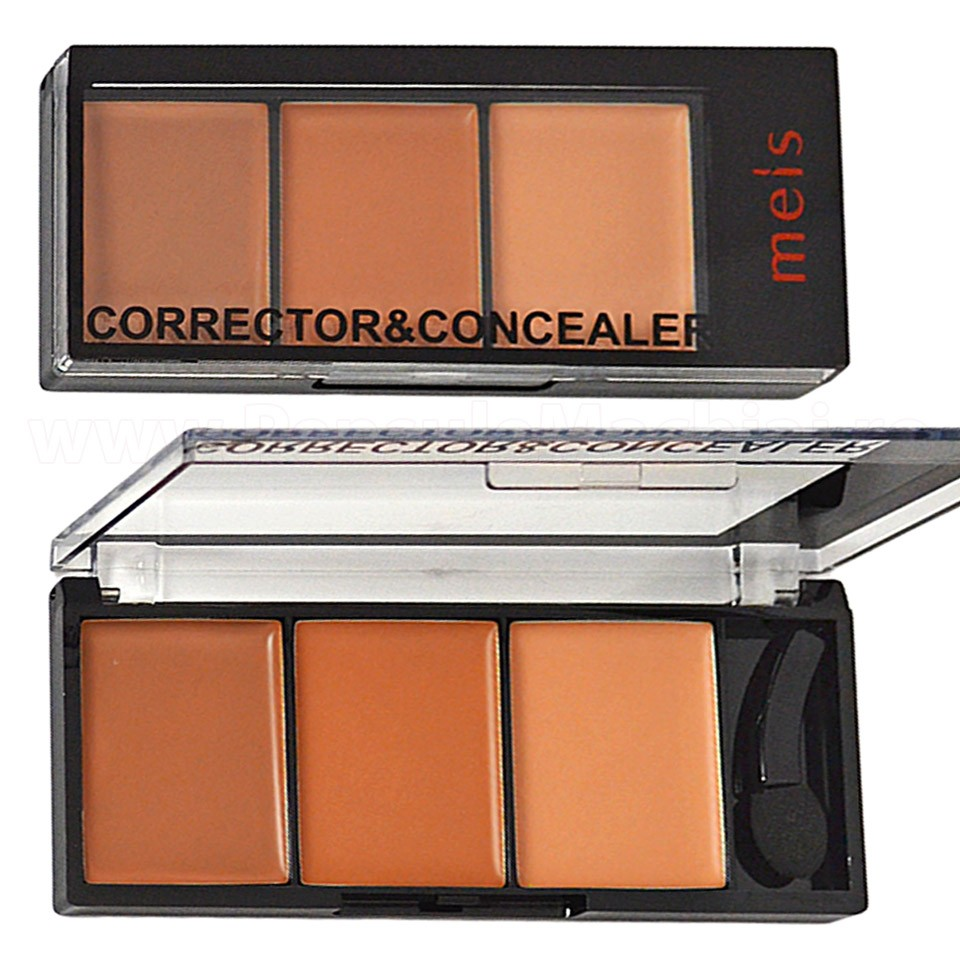 Corector, Anticearcan, Concealer Meis 3 culori 02 - Ginger to Coffee imagine