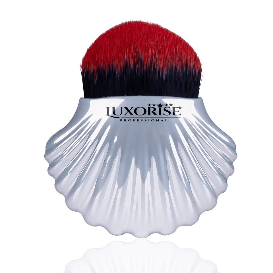 Pensula Machiaj Silver Shell Red Brush LUXORISE Germania imagine produs