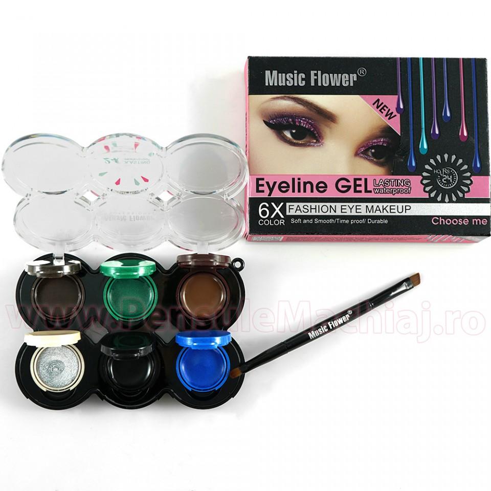 Eyeliner gel colorat