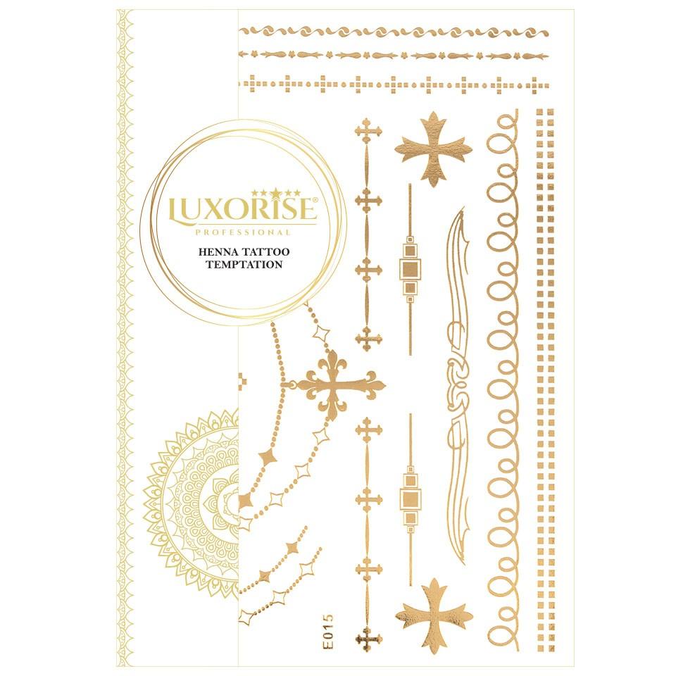 Tatuaj Temporar LUXORISE Henna Temptation Gold Edition E015 pensulemachiaj.ro