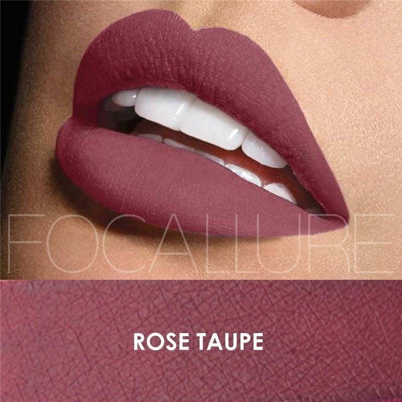Ruj lichid mat Focallure Rose Taupe #06
