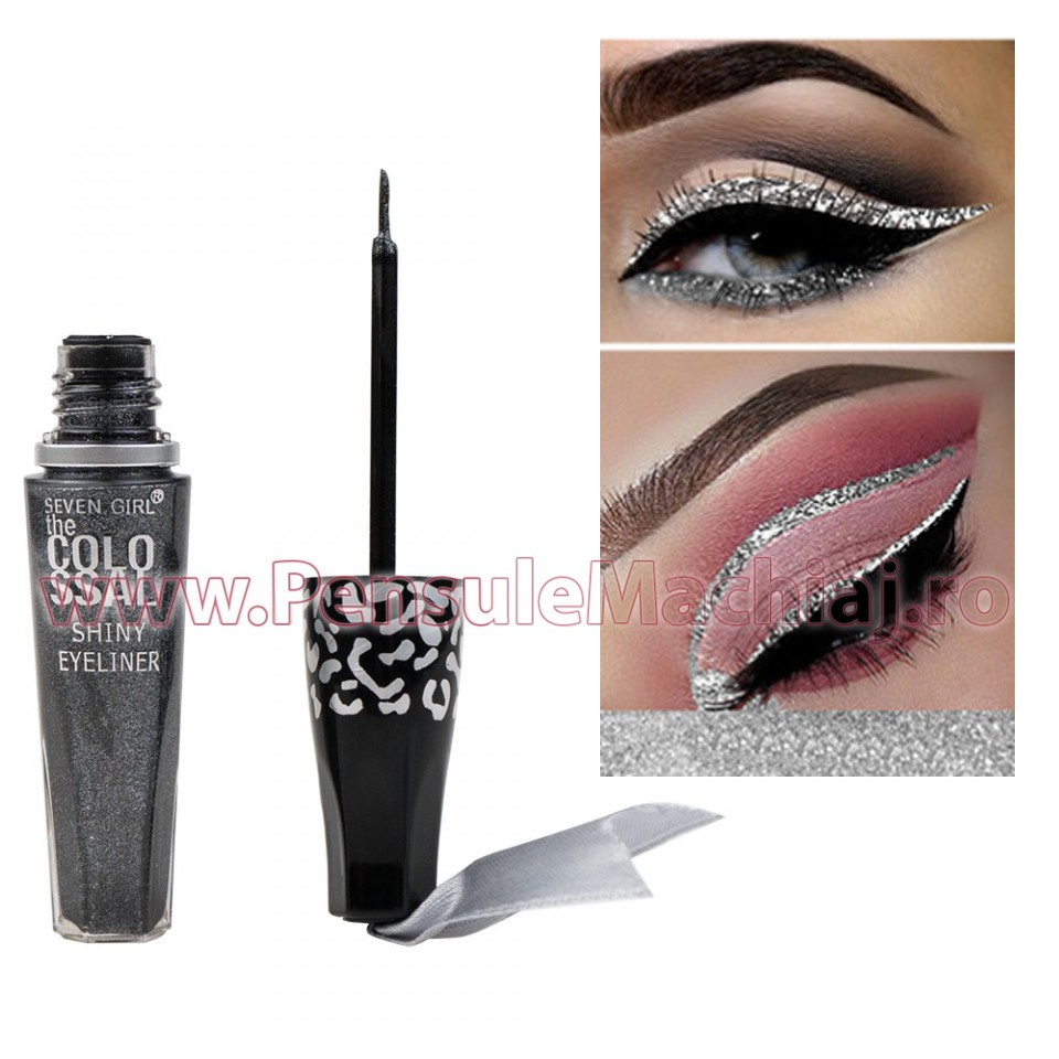 Eyeliner Colorat Rezistent la Transfer Dark Silver 8 ml - 10