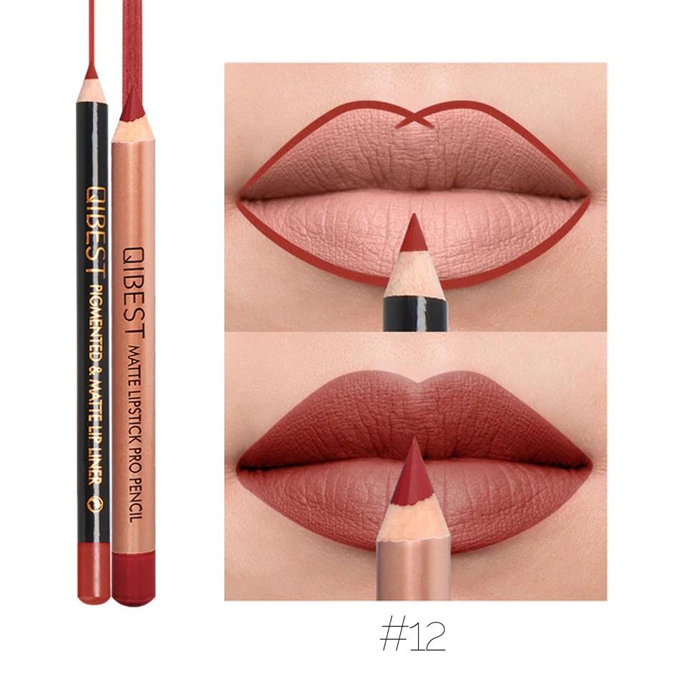 Set contur buze si ruj creion Qibest Promise #12