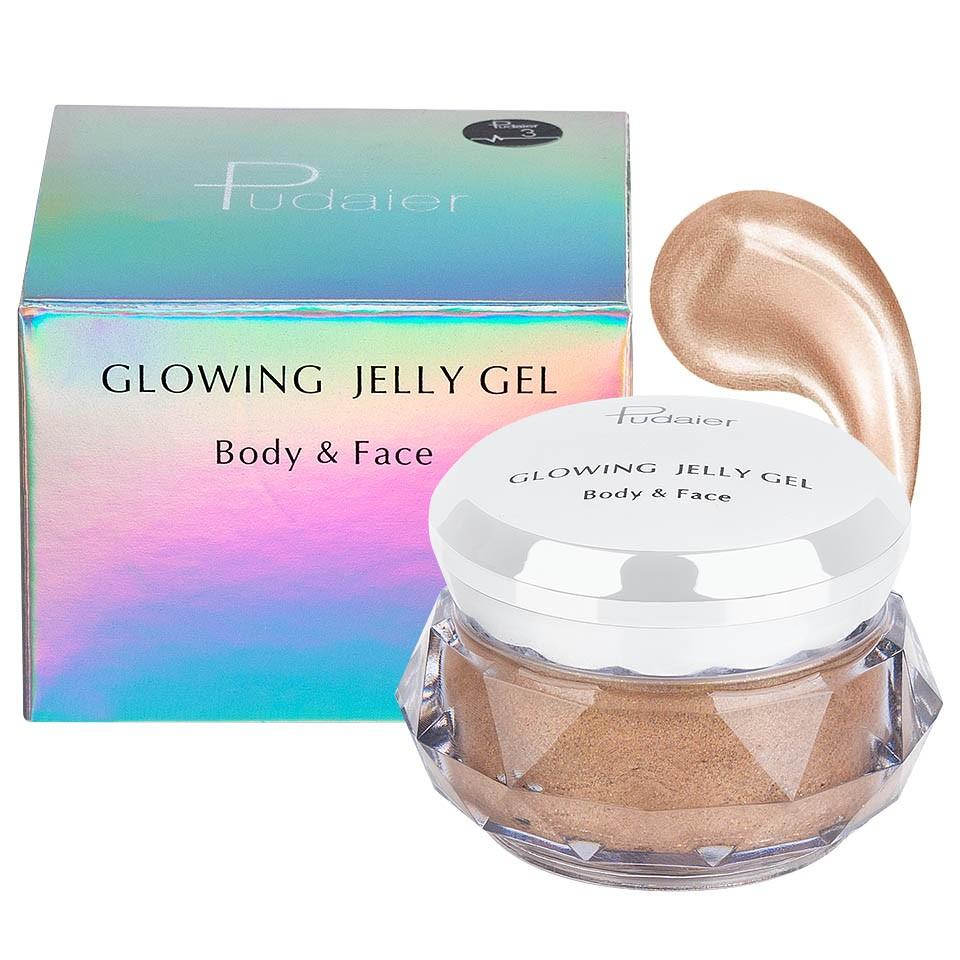 Iluminator crema pentru fata si corp Pudaier Glowing Jelly #03 pensulemachiaj.ro