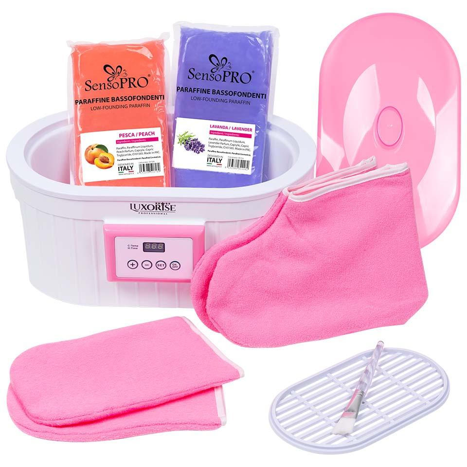 Kit Parafina Soft Skin pentru maini si picioare cu incalzitor LUXORISE + CADOU imagine