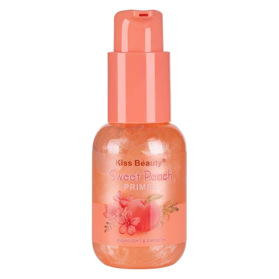 Primer Machiaj Kiss Beauty Sweet Peach, 60ml imagine