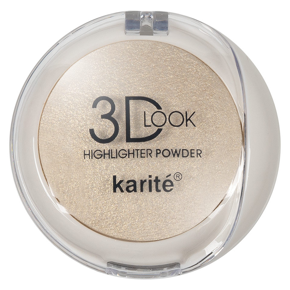 Pudra Iluminatoare cu aplicator Karite 3D Look Oil Control #01 pensulemachiaj.ro