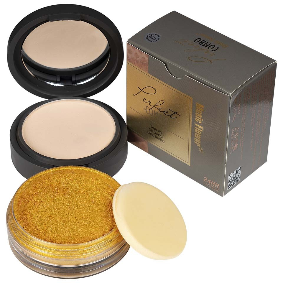 Pudra Machiaj si Iluminator Gold Makeup #102 imagine produs