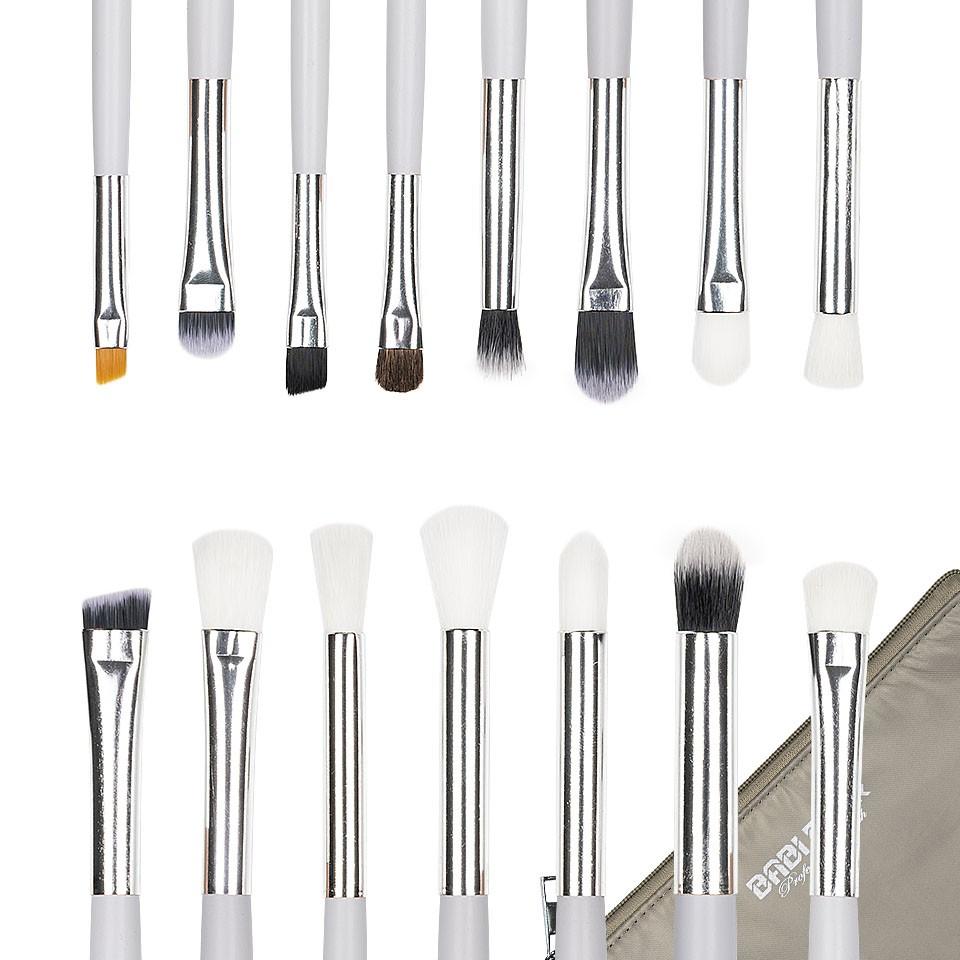 Set 15 pensule machiaj Precise Makeup White + Borseta Cadou poza