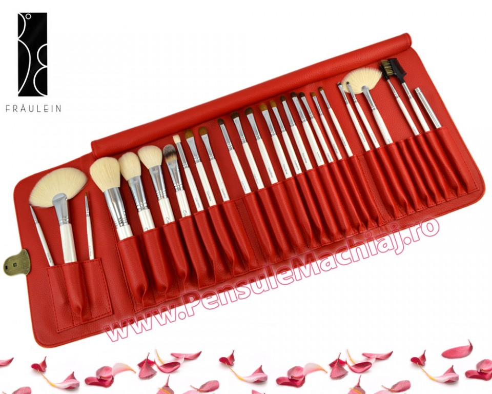 Set 26 Pensule Machiaj Din Par Natural Fraulein38 Expert Collection