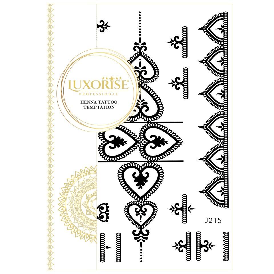 Tatuaj Temporar LUXORISE Henna Temptation Heart Details J215