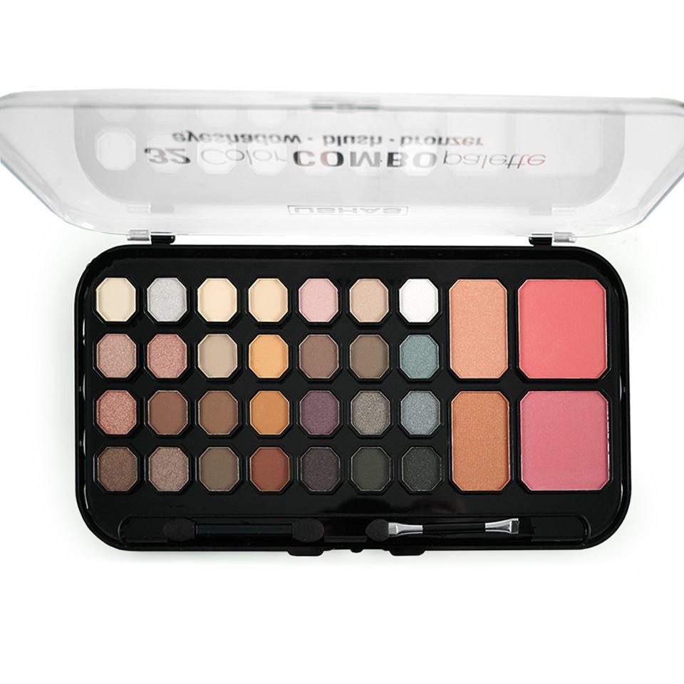 Trusa Farduri 32 culori cu pudra si blush Chocolate Moon Palette imagine